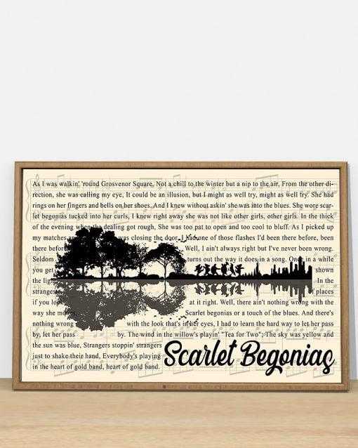 Scarlet Begonias lyrics guitar poster 1