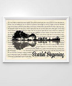 Scarlet Begonias lyrics guitar poster 2