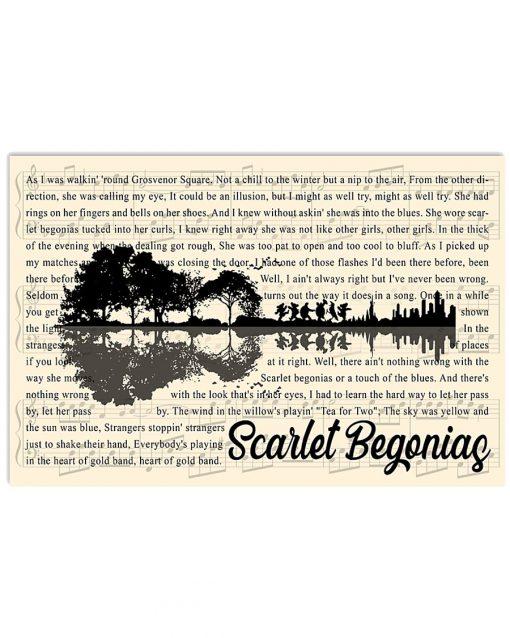 Scarlet Begonias lyrics guitar poster