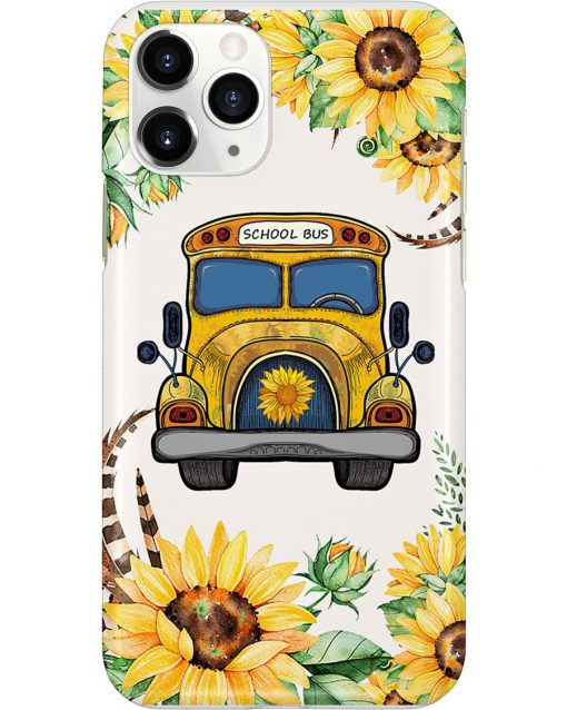 School Bus Sunflower phone case 11