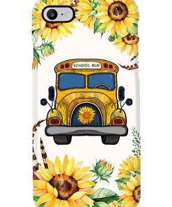 School Bus Sunflower phone case 7