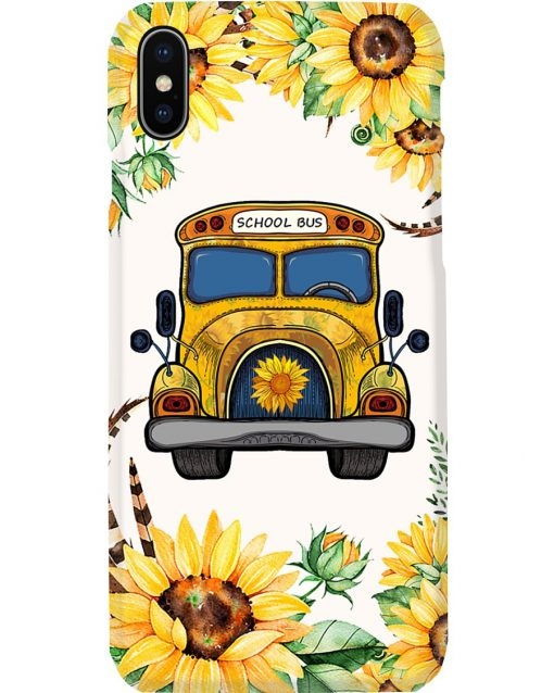School Bus Sunflower phone case x
