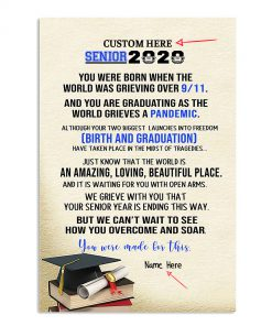Senior 2020 You are graduating as the world grieves a pandemic personalized poster banner