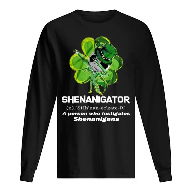 Shenanigator definition Jack Skellington long sleeved