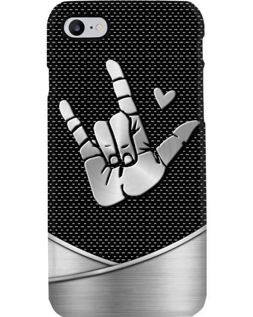 Sign of the horns love as metal phone 7