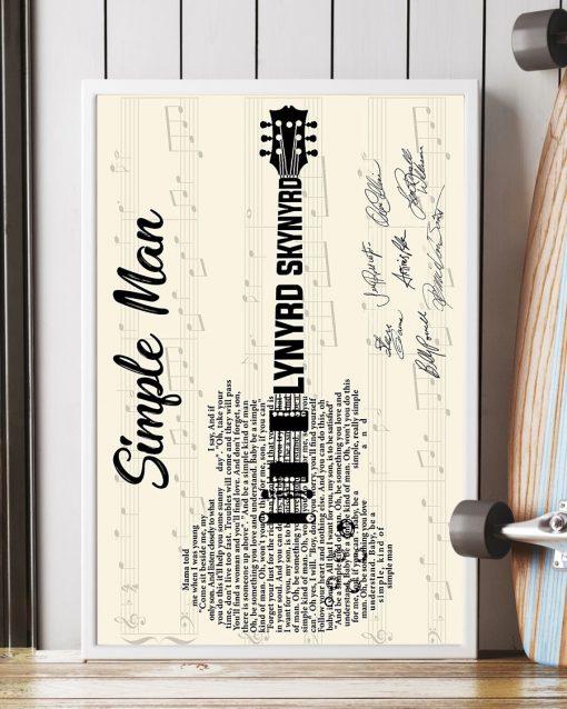 Simple Man Lyric guitar signatures poster 1