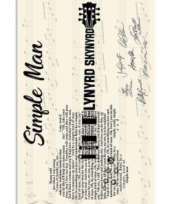 Simple Man Lyric guitar signatures poster 2