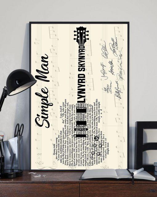 Simple Man Lyric guitar signatures poster 3
