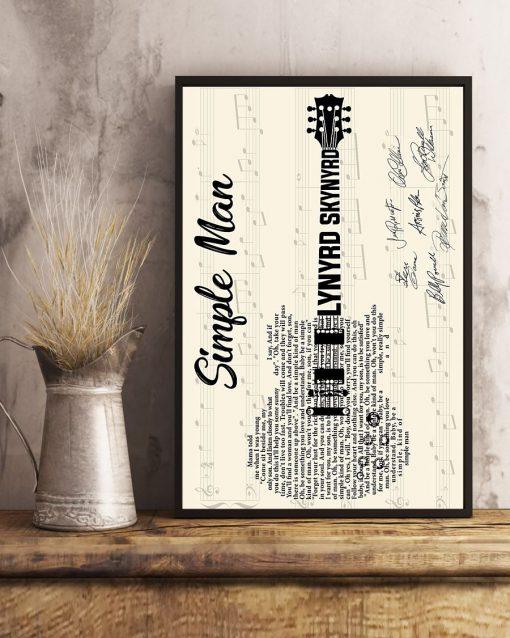 Simple Man Lyric guitar signatures poster 4