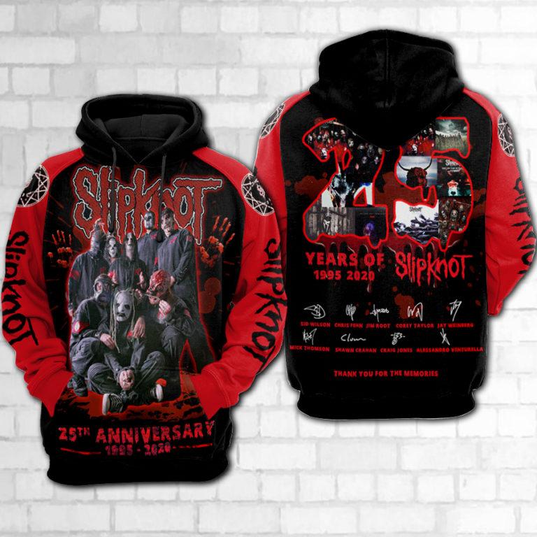 Slipknot 25th anniversary 3d hoodie