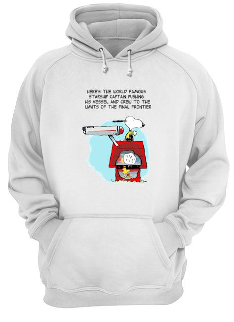 Snoopy Here's the world famous starship captain pushing his vessel hoodie