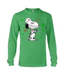 Snoopy Nurse fight coronavirus long sleeved