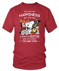 Snoopy You can't buy happiness but you can listen to Led Zeppelin