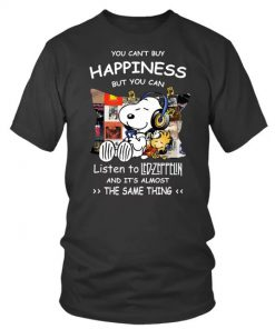 Snoopy You can't buy happiness but you can listen to Led Zeppelin T-shirt