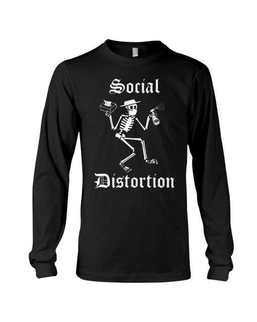 Social Distortion Skull Coronavirus long sleeved