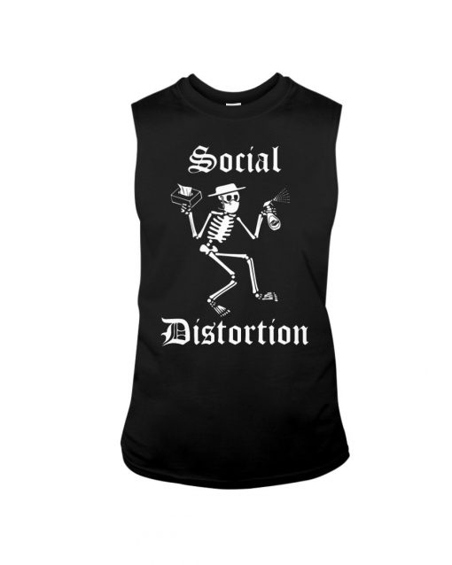 Social Distortion Skull Coronavirus tank top