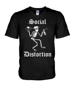 Social Distortion Skull Coronavirus v-neck