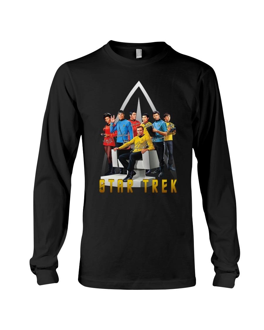 Star Trek characters signatures logo long sleeved