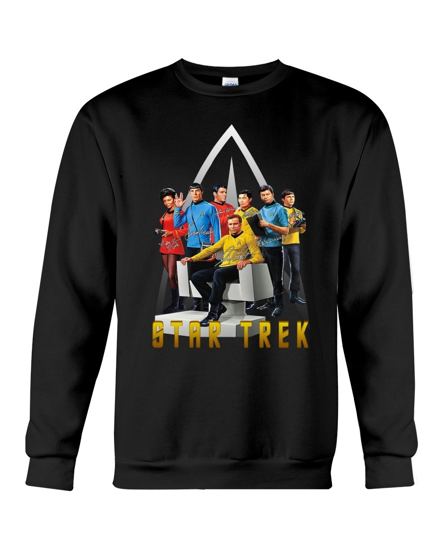 Star Trek characters signatures logo sweatshirt