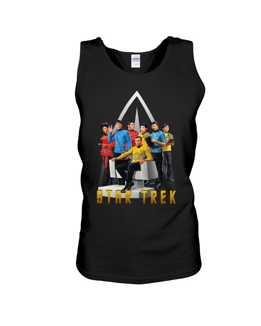Star Trek characters signatures logo tank top