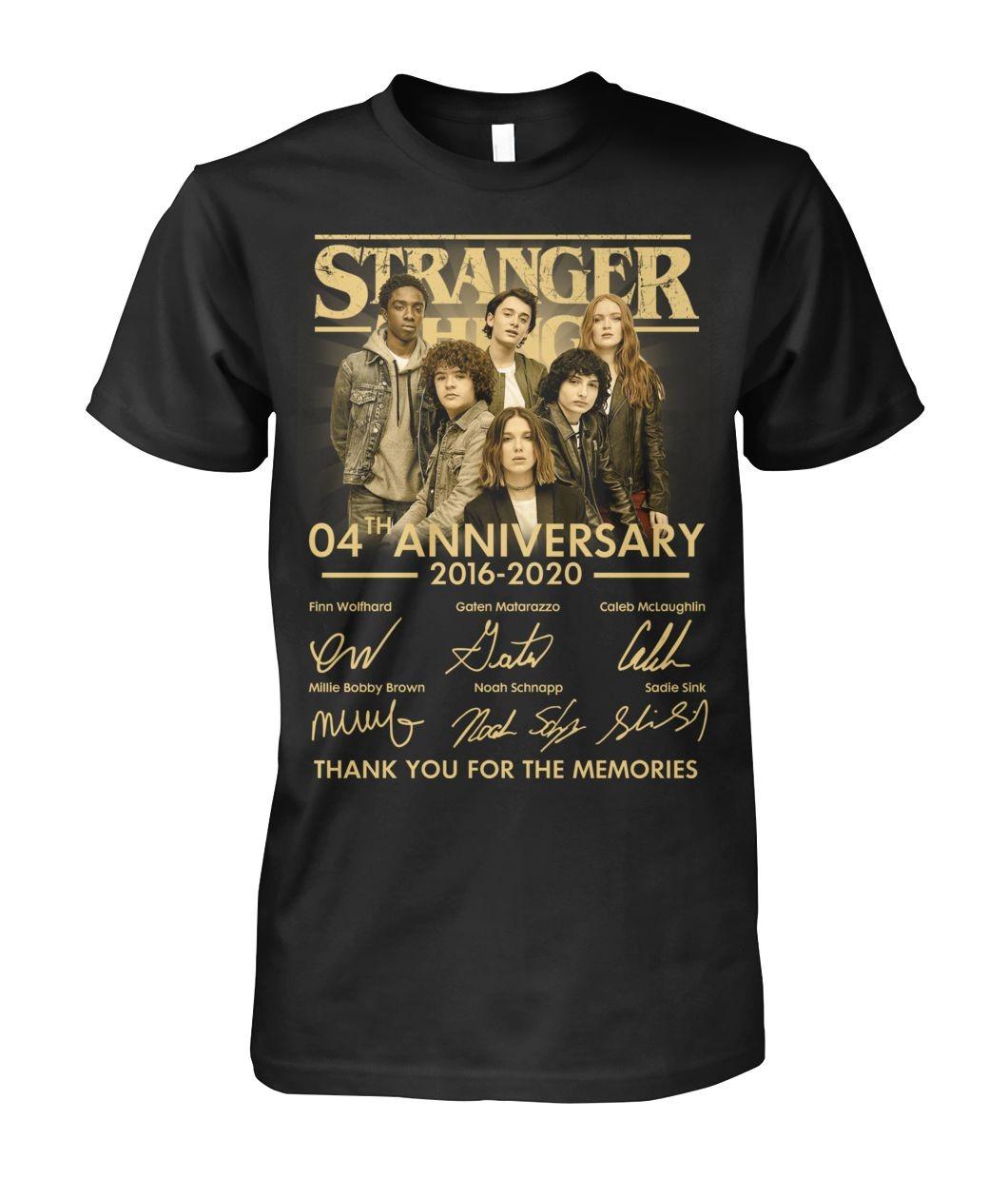 Stranger Things 04th Anniversary T-shirt