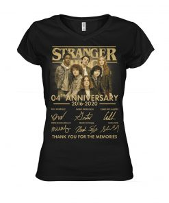 Stranger Things 04th Anniversary V-neck