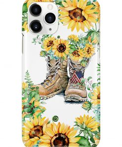 Sunflower Boots U.S. Veteran phone case 11