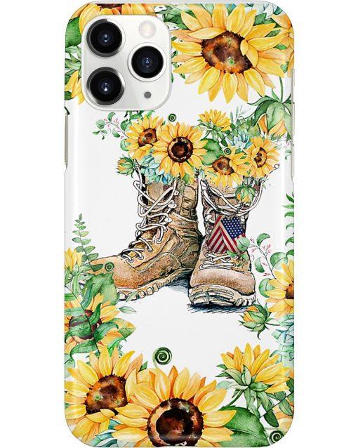 Sunflower Boots U.S. Veteran phone case 11