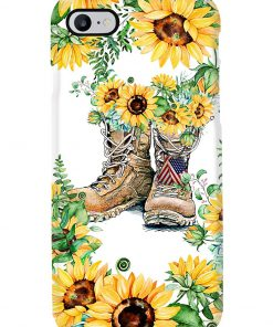 Sunflower Boots U.S. Veteran phone case 7