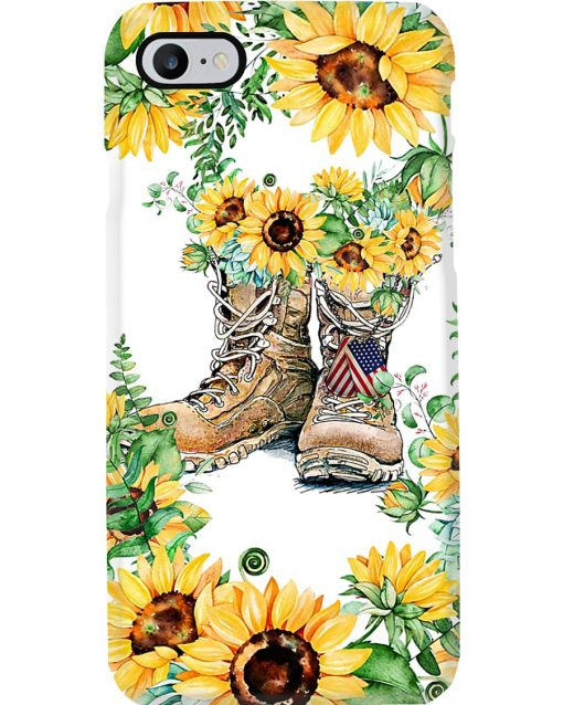 Sunflower Boots U.S. Veteran phone case 7
