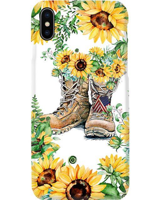 Sunflower Boots U.S. Veteran phone case X