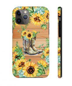 Sunflower Boots Wood version phone case 11 Pro