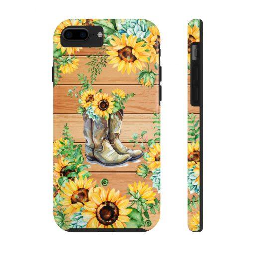 Sunflower Boots Wood version phone case 7