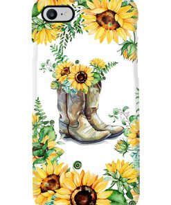 Sunflower Boots phone case 7