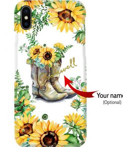 Sunflower-Boots-phone-case-custom name