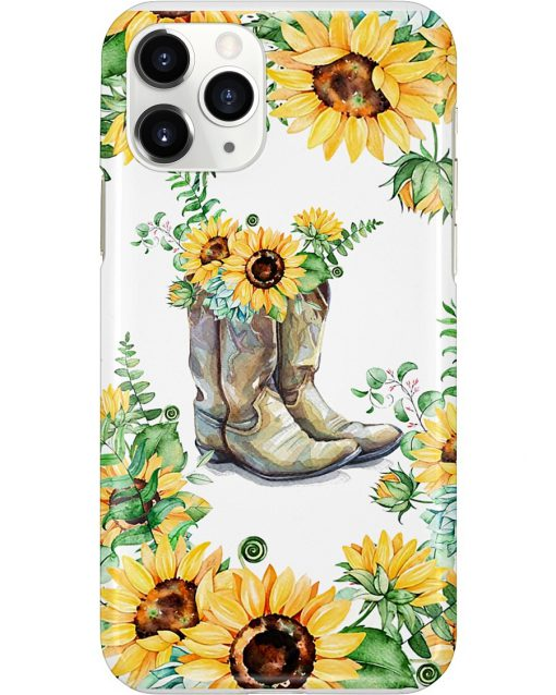 Sunflower Boots phone case x