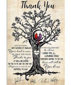 Thank you Led Zeppelin Cardinal poster 1