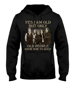 The Beatles Only old people know how to rock signatures hoodie