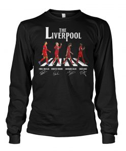 The Liverpool The Beatles Abbey Road signatures long sleeved
