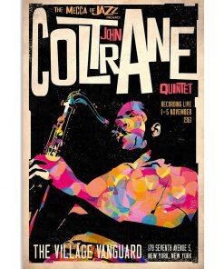 The mecca of Jazz John Coltrane Quintet Poster 1