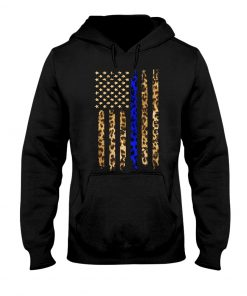 Thin Blue Line Leopard American flag hoodie
