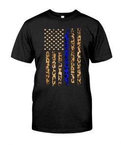 Thin Blue Line Leopard American flag shirt