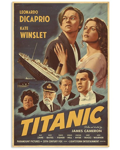 Titanic Movie 1997 art vintage poster 1