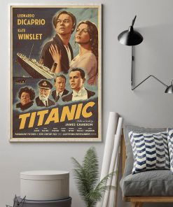Titanic Movie 1997 art vintage poster 2