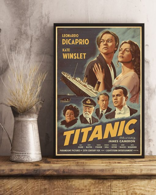 Titanic Movie 1997 art vintage poster 4