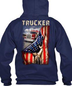 Trucker Proud American flag hoodie
