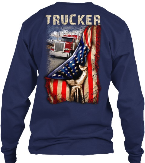 Trucker Proud American flag long sleeved