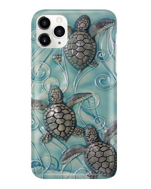 Turtle ceramic tile art phone case11
