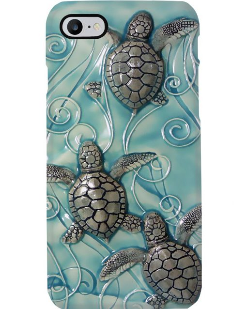 Turtle ceramic tile art phone case7