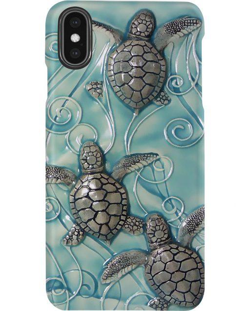 Turtle ceramic tile art phone casexs